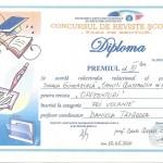 Diploma revista scolii 2016 - premiul 3